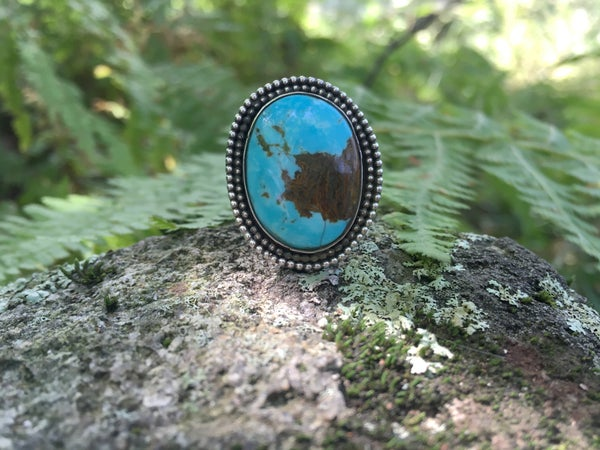 Image of Double Banded Turquoise Ring