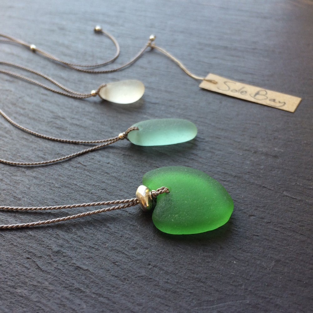 Image of Sole Bay sea glass necklaces