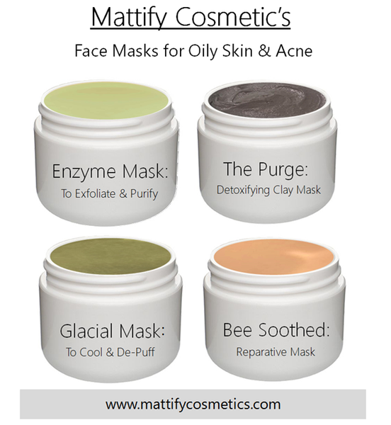 Image of Face Masks for Acne Prone Skin Natural Products for Oily Skin to Unclog Pores by Mattify Cosmetics