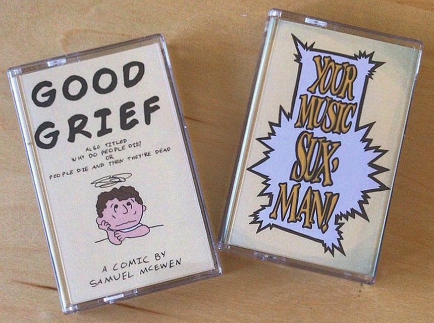 Image of Good Grief / Your Music Sux, Man! Comic and Tape Combo