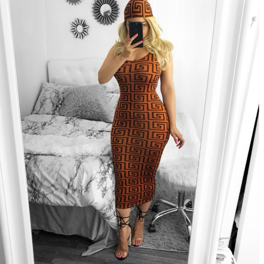 Image of Tahari midi dress