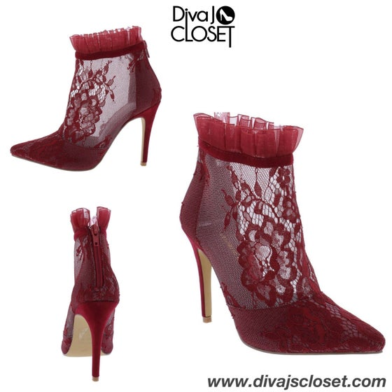 Image of Wine Lace Heel
