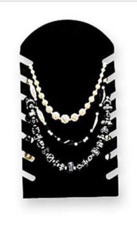 Image of Black slotted necklace Display