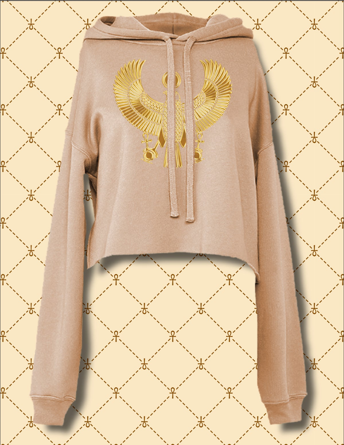 Image of WOMEN'S CROPPED PULLOVER HOODIE