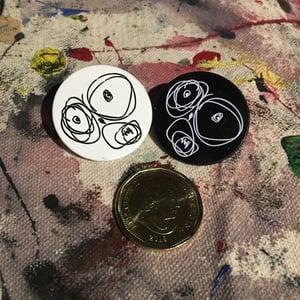 Image of OG Scribble Face Lapel Pin