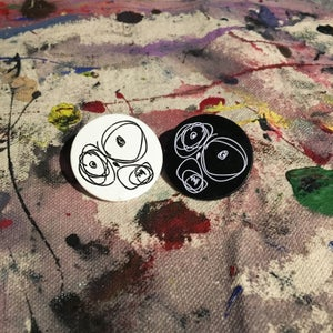 Image of OG Scribble Face Lapel Pin