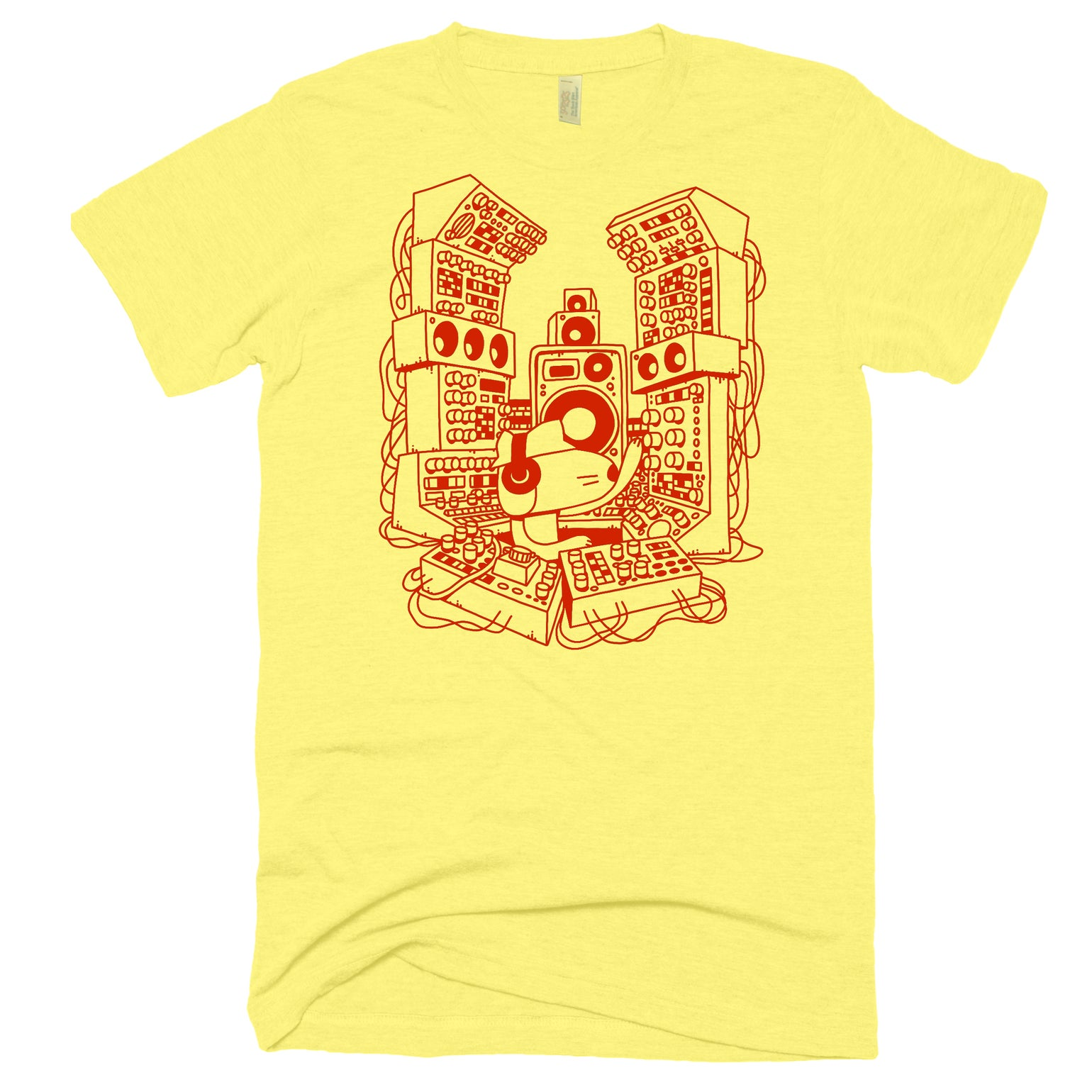 Image of SUBWOOFER MODULAR TEE YELLOW / RED