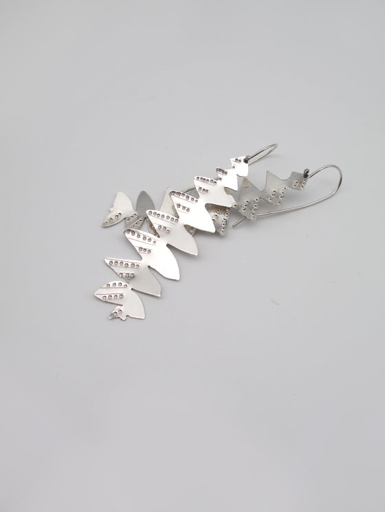 Image of LEAF EARRING: BANKSIA GRANDIS (STERLING SILVER, HAND CUT)