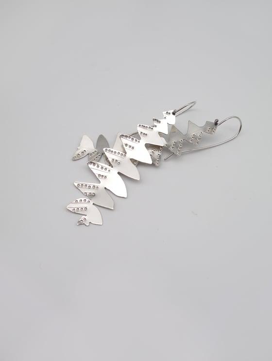 Image of LEAF EARRING: BANKSIA GRANDIS (STERLING SILVER, HAND CUT)