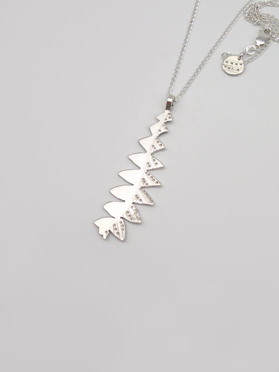 Image of LEAF NECKLACE: BANKSIA GRANDIS (STERLING SILVER, HAND CUT)