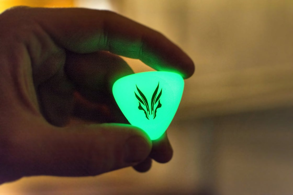 Image of The original 'Alien Green HUFGLOW' plectrums!
