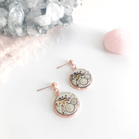 Image of Rosa Rose Gold Earrings