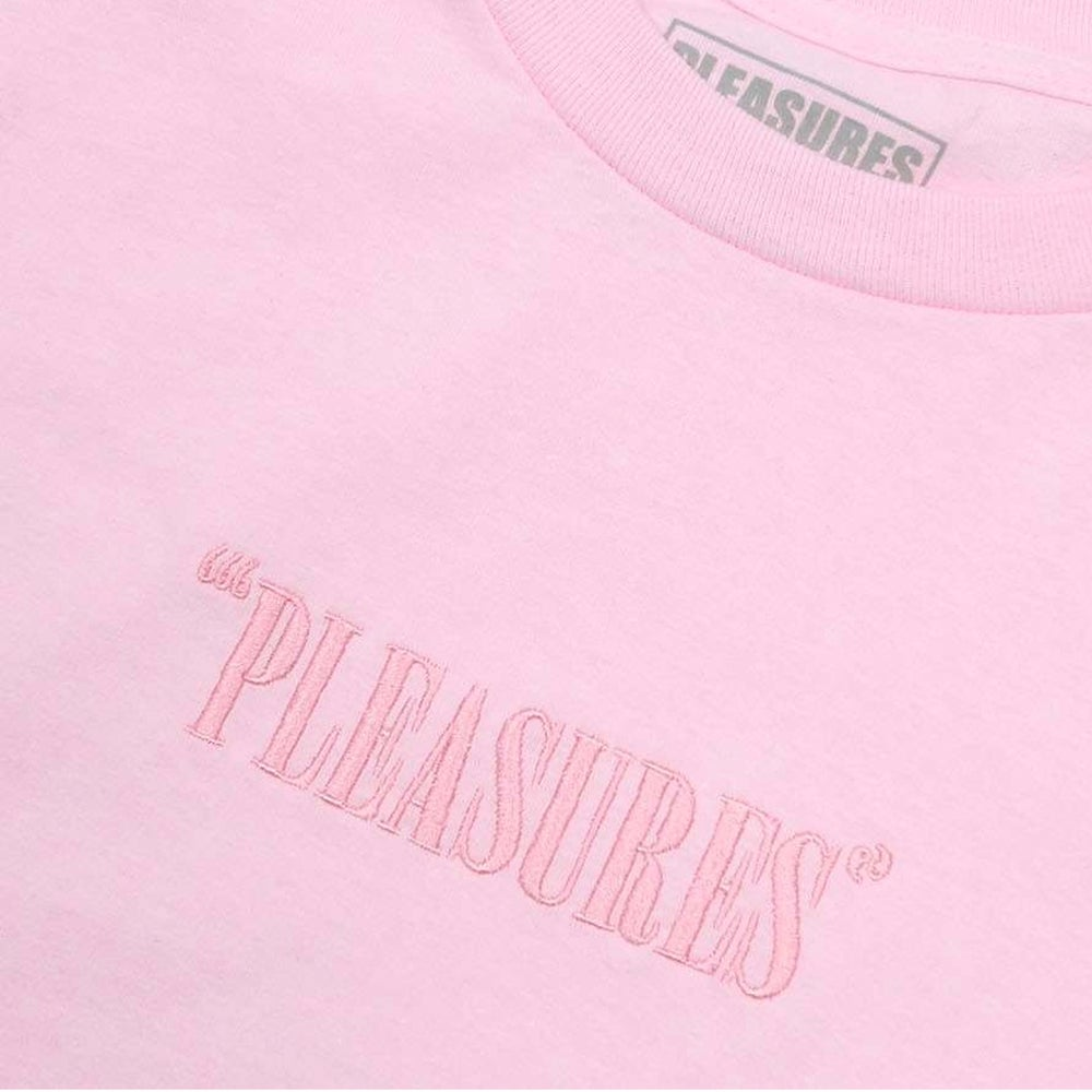 Image of PLEASURES - Core Embroidered Logo L/S Tee (Black)