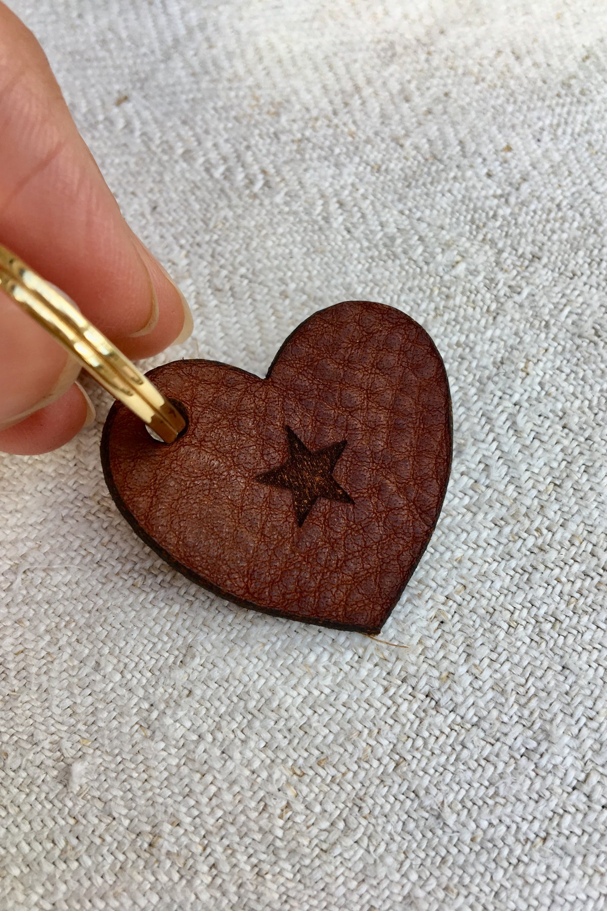 Heart Star Keyring