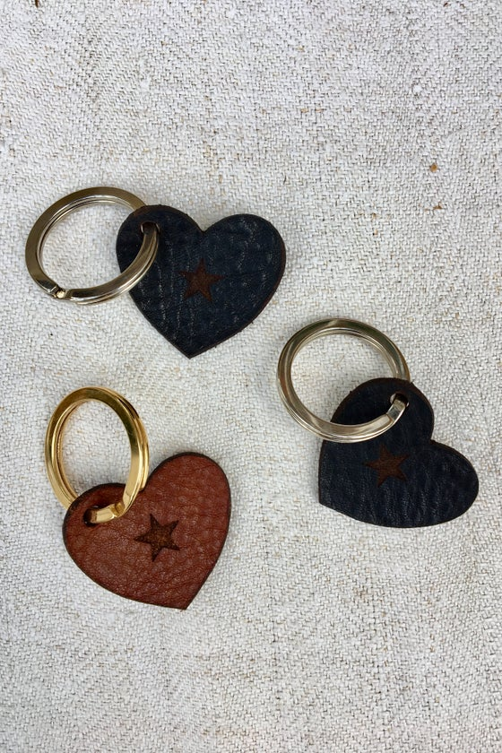 Image of Heart Star Keyring