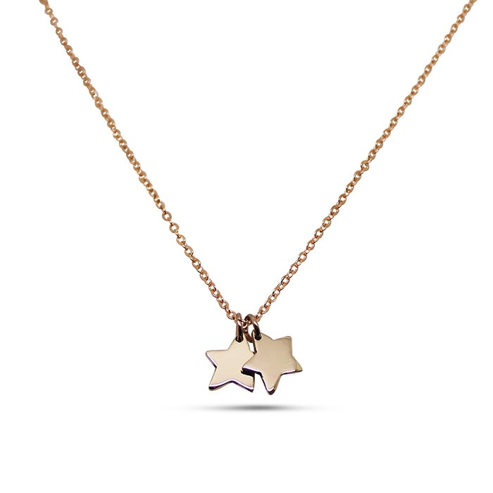 "Image of Double ""Little Star"" 9ct Yellow Gold Necklace"