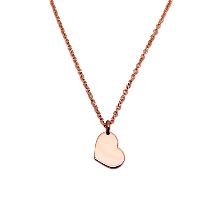 "Image of ""Little Heart"" 9ct Rose Gold Necklace"
