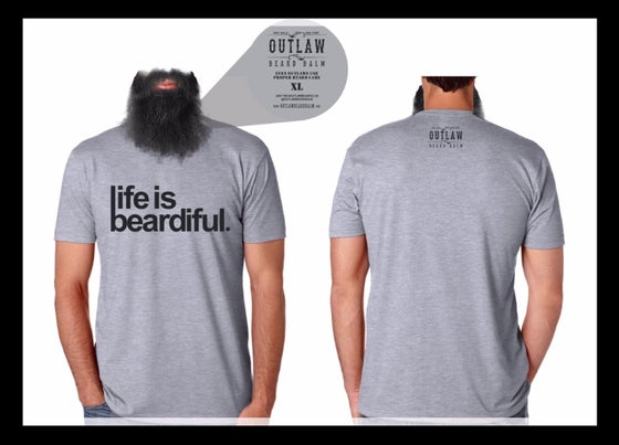 """Image of """"LIFE IS BEARDIFUL"""" tee"""