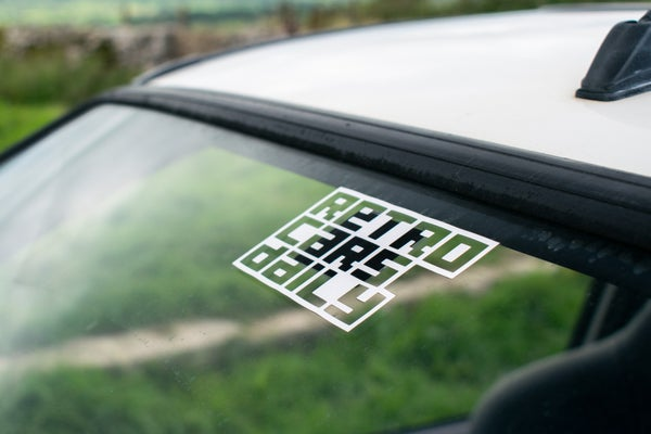 Image of Retro Cars Daily Window Sticker (UK)