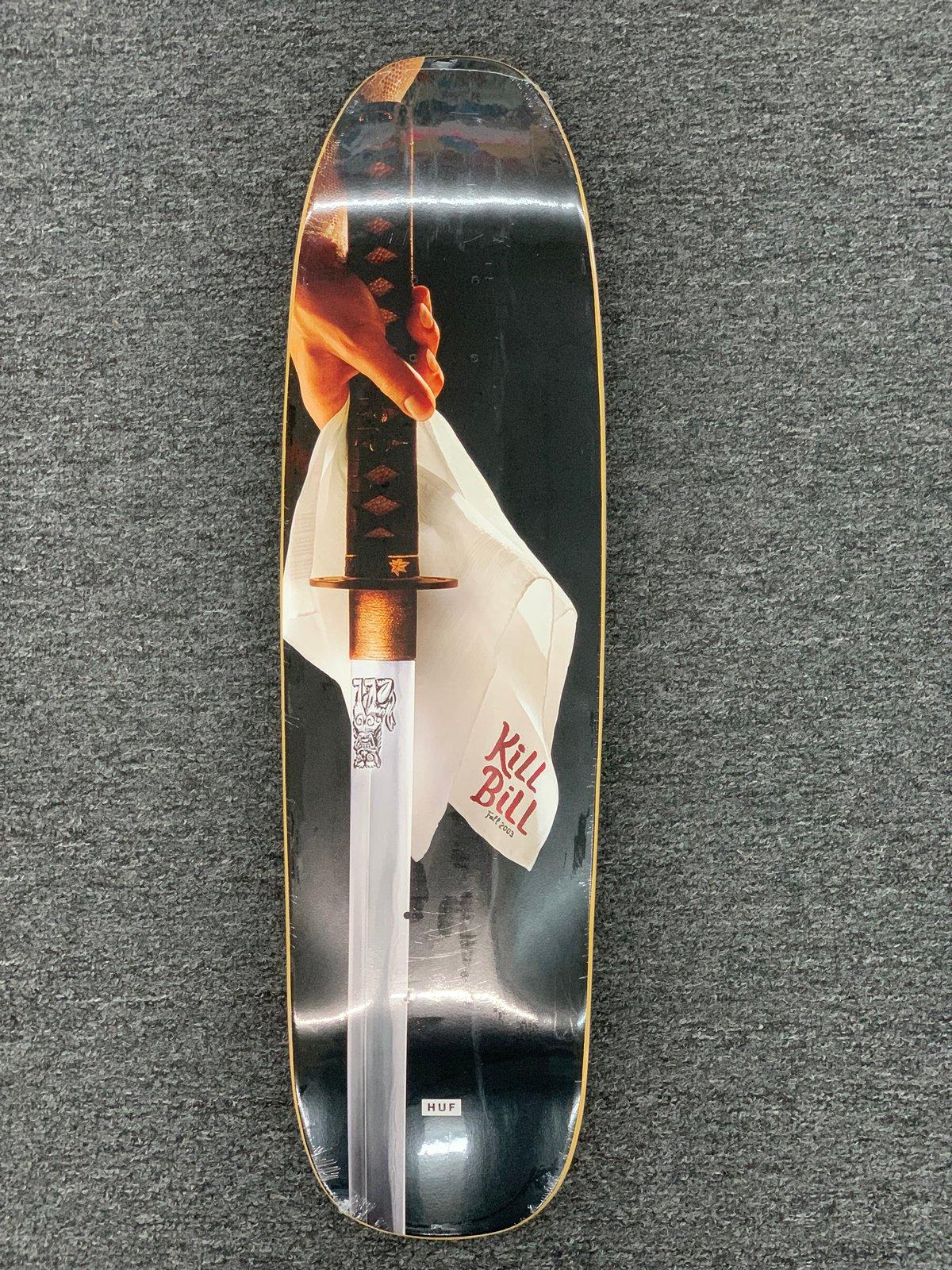 Image of HUF X KILL BILL CRUISER VOL 1 SKATEBOARD DECK BLACK