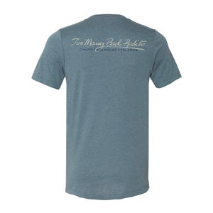 Image of Too Many Bad Habits - Dusty Blue V-Neck Tee