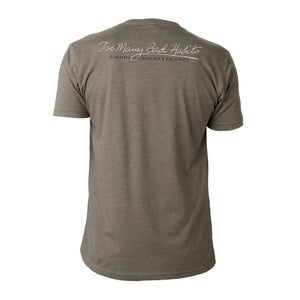 Image of Too Many Bad Habits - Warm Gray V-Neck Tee