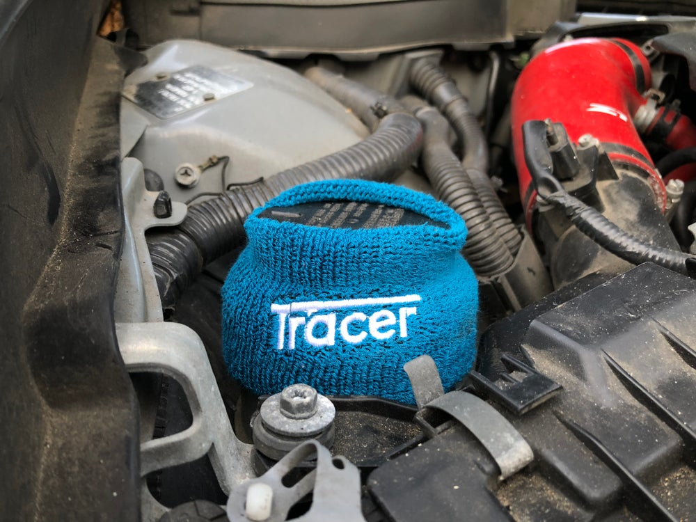 """tracer"" fluid reservoir covers"