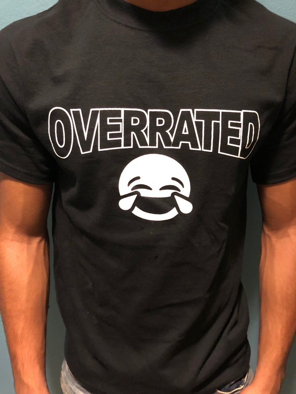 NEW Overrated LOL face black/ white