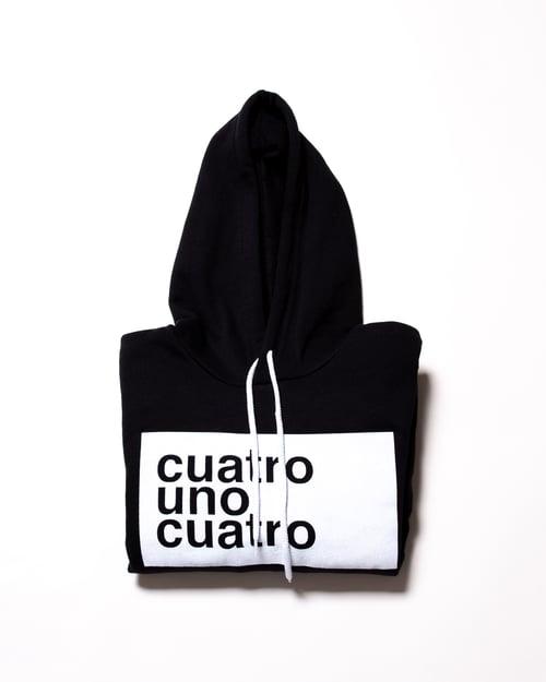 Image of CUATRO UNO CUATRO - BLACK HOODIE