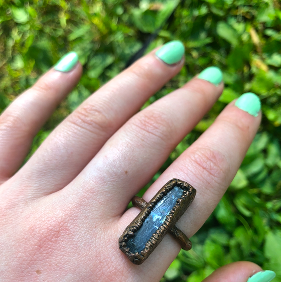 Image of Blue Kyanite Ring Size 7.5-8