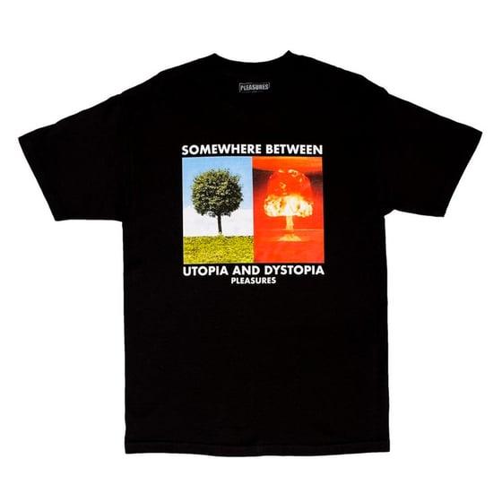 Image of PLEASURES - Somewhere Tee (Black)