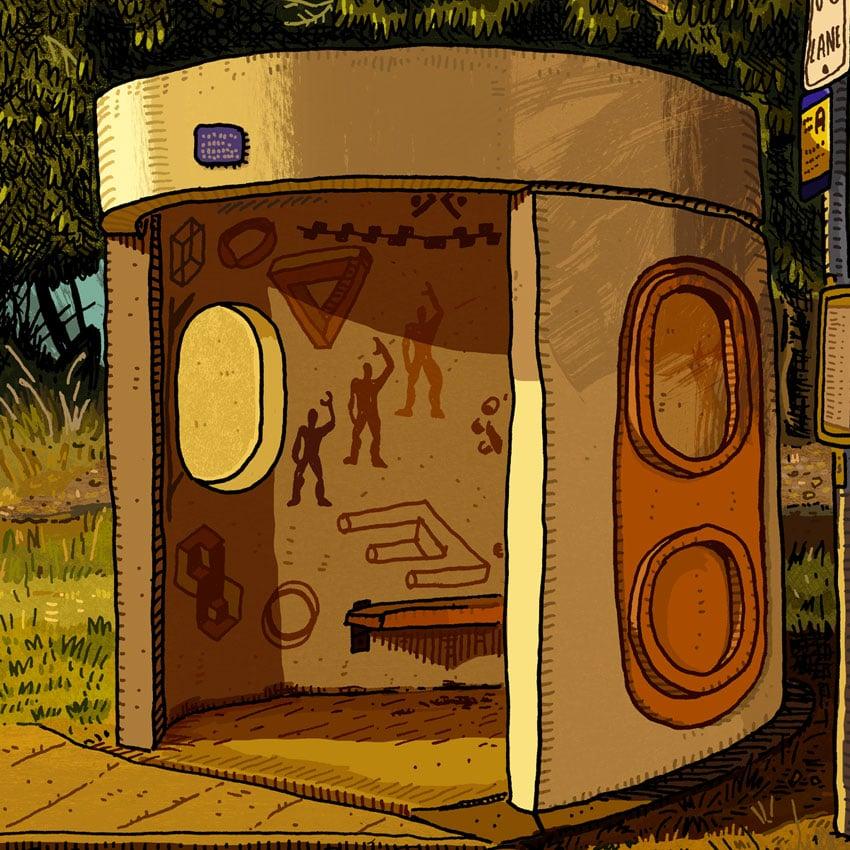 Image of Acton, Liversidge St, digital print