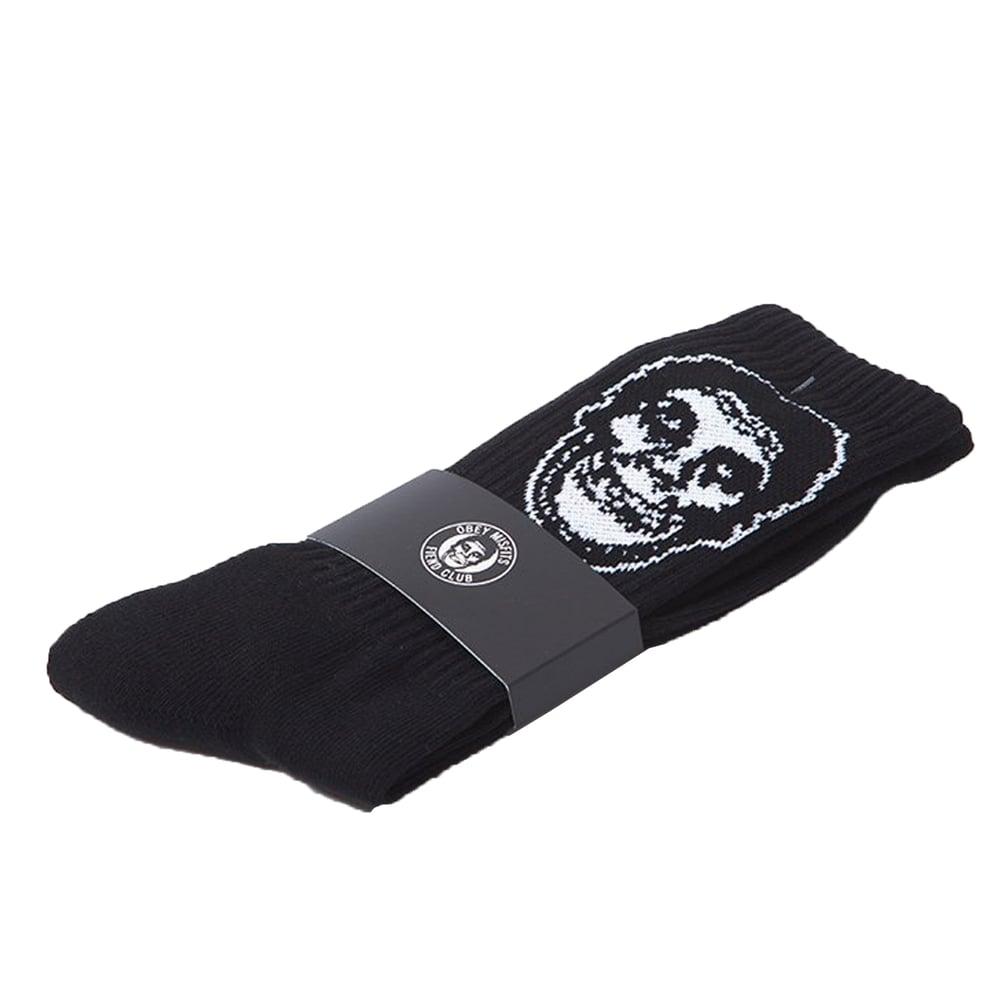 Image of OBEY - OBEY x Misfits Socks (Black)