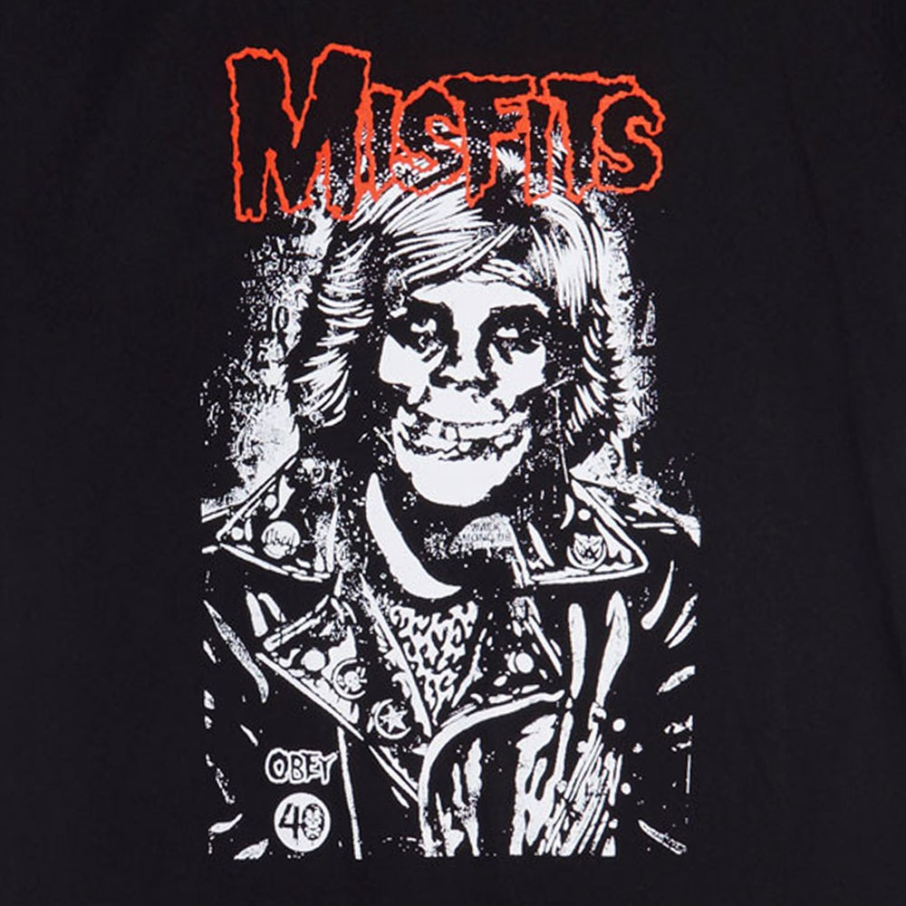 Image of OBEY - OBEY X MISFITS Fiend Rocker (Black)