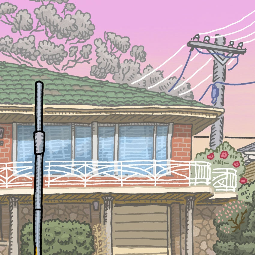 Image of Narrabundah, Caley Crescent, digital print