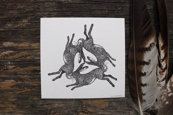 Image of Three hares. (Artist proof copies)
