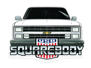 Image of 80s Front End SB USA Sticker