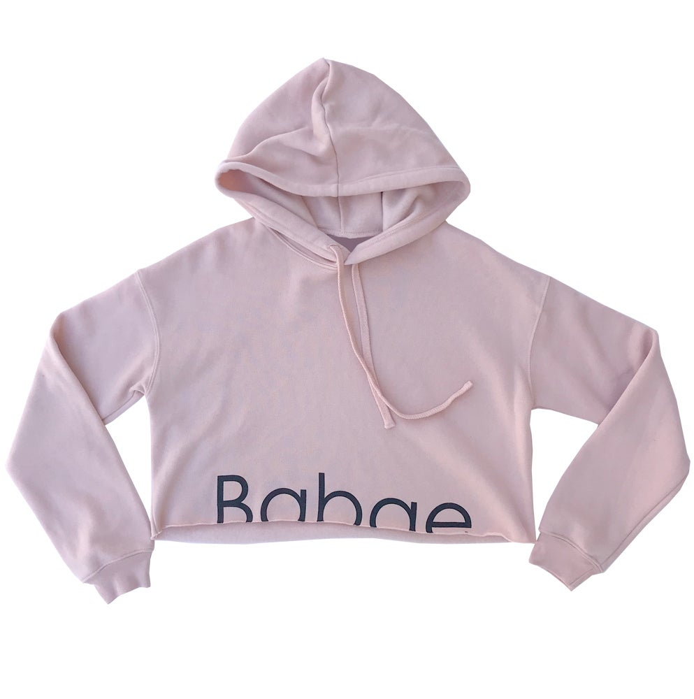 Image of BaBAE – Cropped Hoodie - Peach