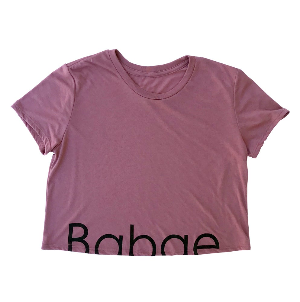 Image of BABAE – Flowy Cropped Tee - Muave