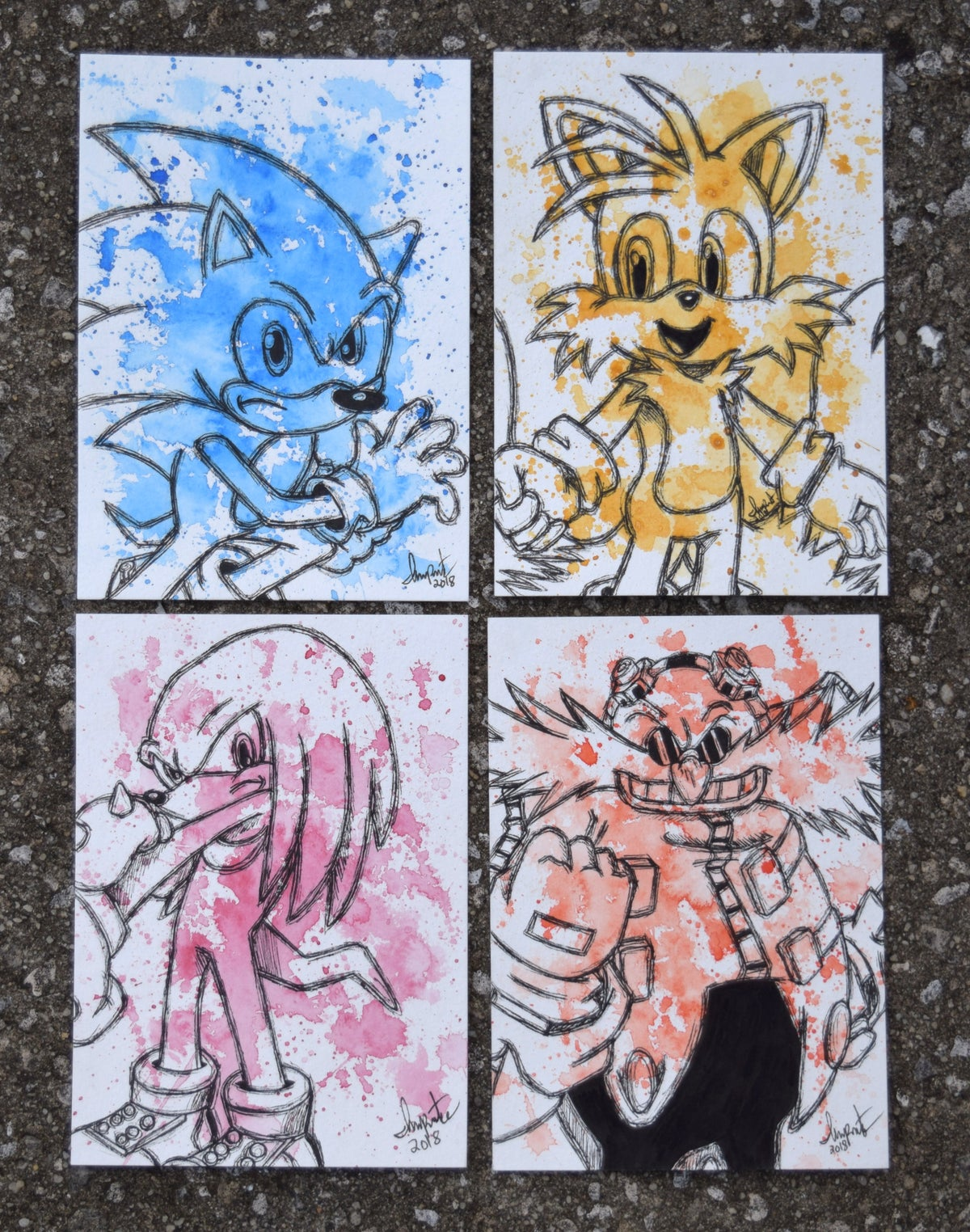 Image of Sonic the Hedgehog Character Set