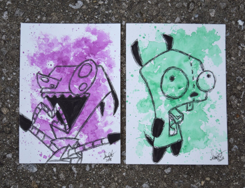 Image of Invader Zim Character Set