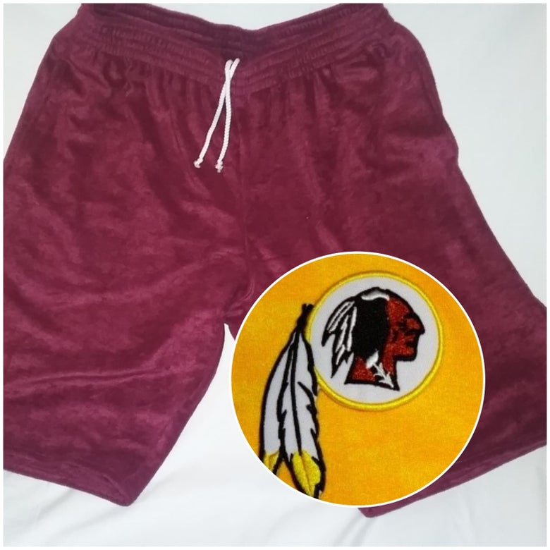 Image of Washington Redskins Themed Towel Shorts