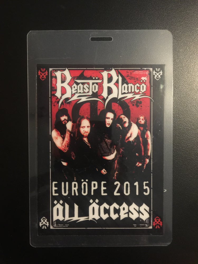 Image of OFFICIAL - BEASTO BLANCO - SIGNED 2015 TOUR PASS