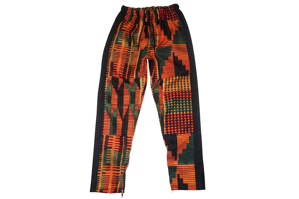 Image of African Print Track Pants (Black)