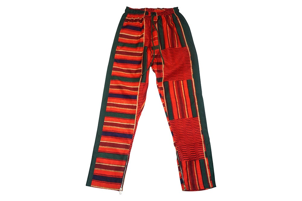 Image of African Print Track Pants (Green)