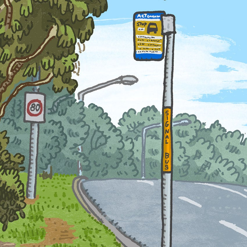 Image of Giralang, Baldwin Drive, digital print