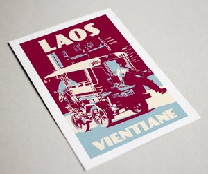 Image of Set of 10 vintage postcards Laos - Greeting cards - Laos
