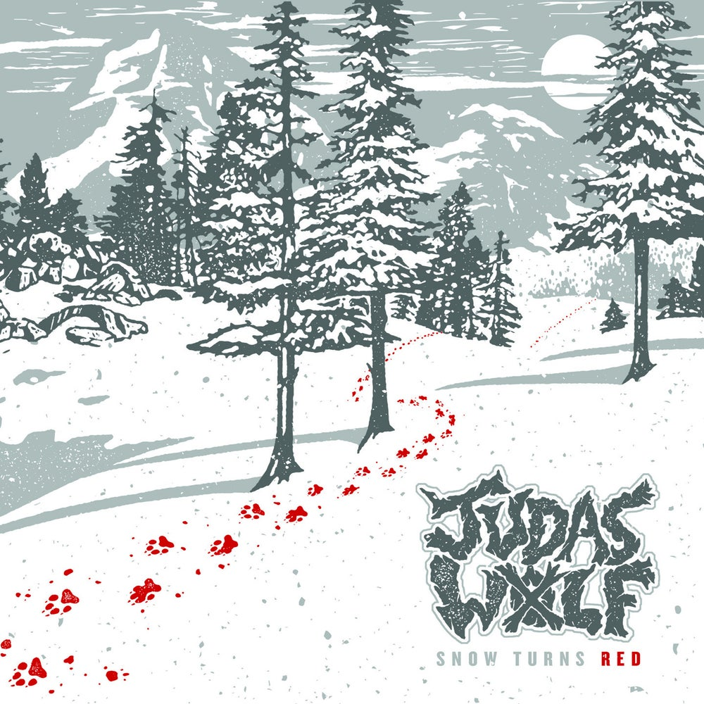 "Image of JUDAS WOLF ""SNOW TURNS RED"" 7 INCH"