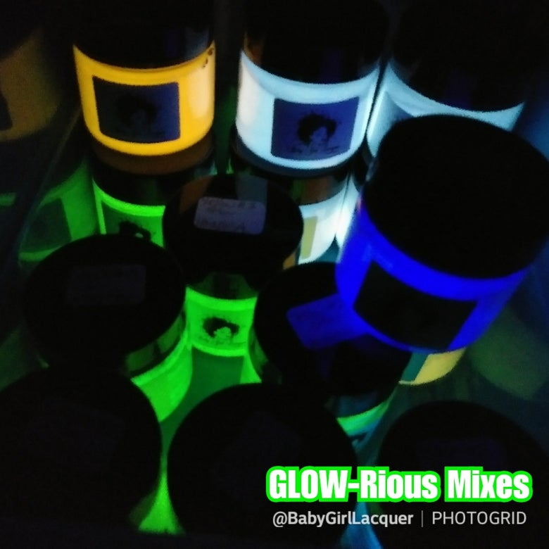 Image of GLOW-Rious Mixes: GITD Acrylic Powders