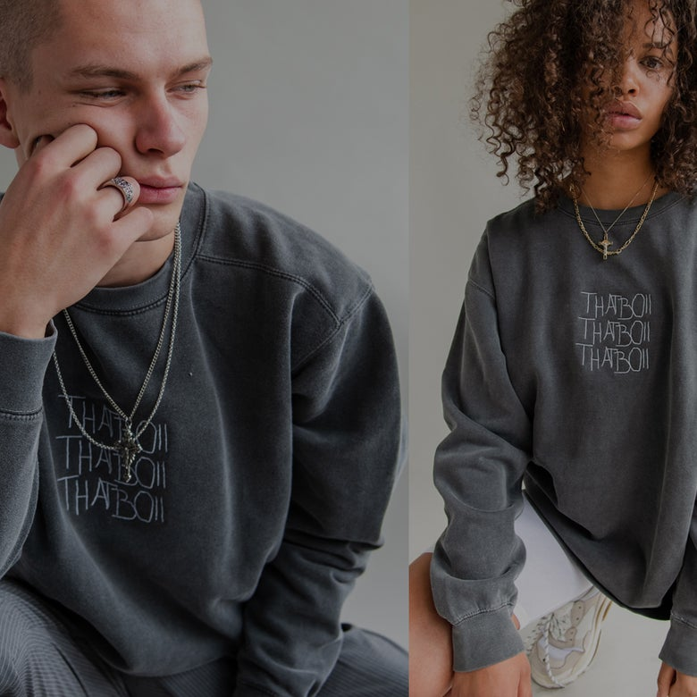 Image of THATBOII SWEATER - WASHED GREY